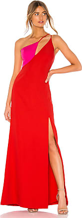 Bcbgmaxazria Cut Out Colorblock Gown in Red