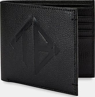 Ted Baker Embossed Leather Bifold Wallet in Black MEOE, Mens Accessories