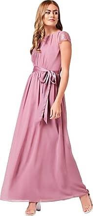 Little Mistress Phoebe Canyon Rose Lace Sleeve Maxi Dress 14 UK Canyon Rose