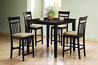 Coaster Fine Furniture 5-piece Counter Height Dining Set Cappuccino and Tan