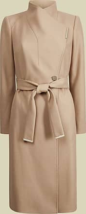 Ted Baker Wool Wrap Coat in Camel ROSE, Womens Clothing