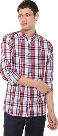 c84482225 Tommy Hilfiger Camisa Tommy Hilfiger Regular Xadrez Branca/Vermelha