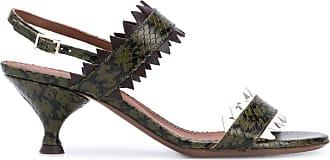 L'autre Chose Sandália com efeito pele de cobra e salto 60mm - Verde