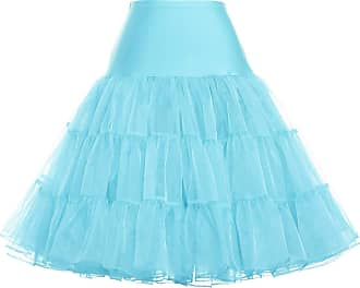 Grace Karin Vintage 50s Tutu Skirts Underskirts Petticoat Solid Color Powder Blue XL