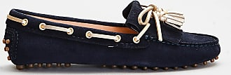 Car Shoe Car shoe - mocassino in pelle e nappa oro - blu