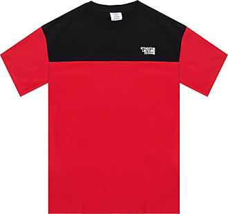 VETEMENTS Logo-embroidered T-shirt Mens Red
