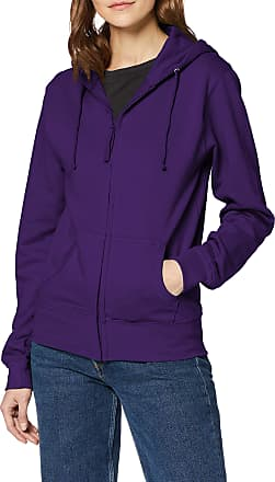 Awdis Womens Girlie Zoodie Hoodie, Purple, 16 (Manufacturer Size:X-Large)