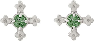 Zoe & Morgan Izil Studs Chrome Diopside Silver - one size | sterling silver | silver | Green Field - Silver/Silver