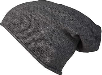 Zwillingsherz Slouch 100% Cashmere Beanie Knit hat for Girls/Boys - Beanie - Unisex - One Size fits All - Warm and Soft in Summer, Fall and Winter (Medium Gray)