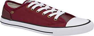Dunlop Trainers Ladies Canvas Lace Plimsoll Shoes Sneakers with Memory Foam UK Sizes 3-8 (Deane Burgundy, Numeric_6)