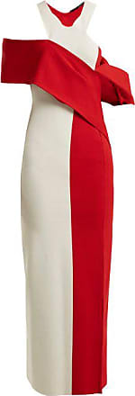 Haider Ackermann Draped Contrast Knit Dress - Womens - Red White