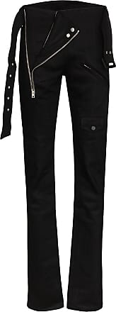 Zilver belted zip-detailed slim-fit trousers - Black