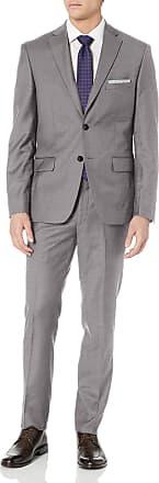 DKNY Mens All Wool Slim Fit Suit