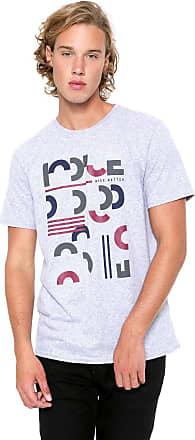 Iodice Camiseta Iódice Manga Curta Estampada Cinza