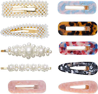 Zhhlaixing 10 Pieces Pearl Hair Clips Pins Acrylic Resin Clips Barrettes Hair Accessories Headwear Hair Accessories for Women and Girl Zhhlaixing