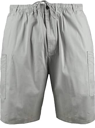 Espionage Big Mens Putty Stamm Cargo Shorts 2XL to 8XL Cotton Elasticated Stretch, Size : 4XL