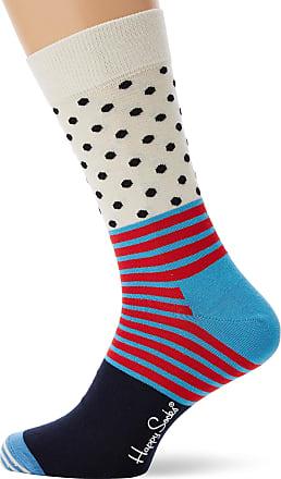 Happy Socks Mens Stripe and Dot Sock, Multicolour (Multicolour 670), 7-10 (Size:41-46)