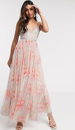 Needle & Thread embellished cami maxi dress in bloom print-Multi