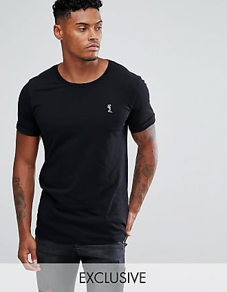 Religion roll sleeve logo t-shirt in black