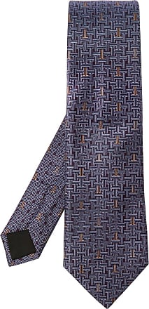 Lanvin Silk Tie Mens Purple