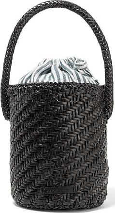 Loeffler Randall Cleo Woven Leather Bucket Bag - Black