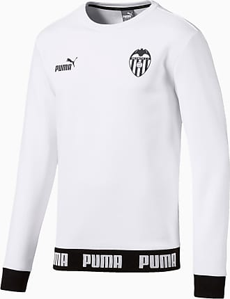 Puma Valencia Cf Football Culture Mens Sweater Shirt, White, size 2X Large, Clothing