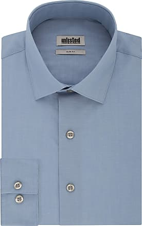 Unlisted by Kenneth Cole Mens Dress Shirt Slim Fit Solid, Cadet Blue, 15-15.5 Neck 32-33 Sleeve (Medium)
