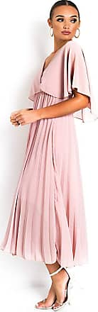 Ikrush Michaela Pleated Maxi Dress Pink UK 1SZE