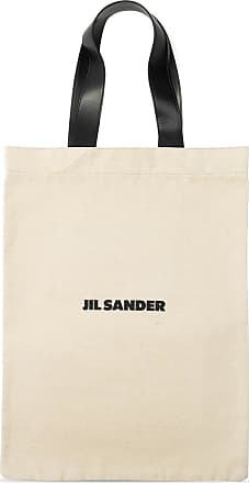 Jil Sander Tote Bag With Logo Womens Beige