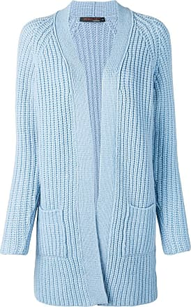 Incentive! Cashmere chunky knit open cardigan - Azul
