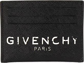 Givenchy Porta-cartões com efeito de logo vintage - Preto