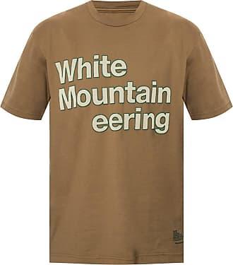 White Mountaineering Logo-appliquéd T-shirt Mens Brown