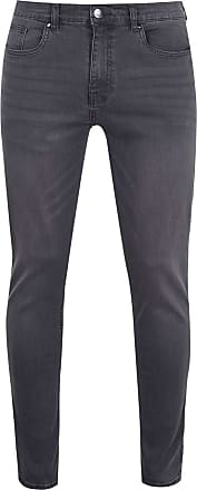 Firetrap Mens Skinny Jeans Tonal Stitching Denim Trousers Casual Pants Bottoms Charcoal 32 L30