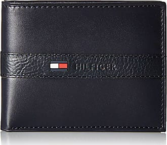 802f1a970f9 Tommy Hilfiger Mens Leather Wallet - Thin Sleek Casual Bifold with 6 Credit  Card Pockets and