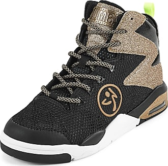 Zumba Air Classic High Top Shoes Dance Fitness Workout Sneakers for Women, Golden, 5.5 UK