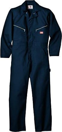 Dickies Mens Long Sleeve Deluxe Coverall, Dark Navy, 4X Large-Tall(60 Tall)
