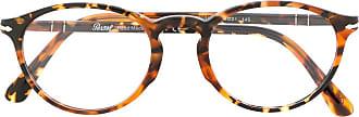 Persol Armação de óculos tartarugada - Marrom