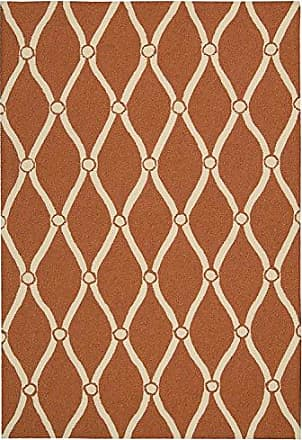Nourison Rug Squared Maui Indoor/Outdoor Area Rug (MAU02), 8-Feet by 10-Feet 6-Inches, Orange