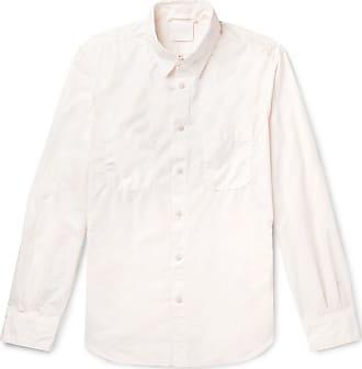 Aspesi Slim-fit Garment-dyed Shell Overshirt - Cream