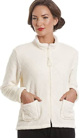 Camille Womens Soft Button and Zip Bed Jackets and Designs 22/24 Ivory Zip