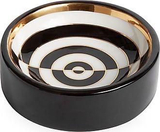 Jonathan Adler Op Art Porcelain Catchall - Black/White/Gold