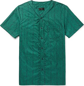 Onia Luca Printed Cotton Shirt - Green