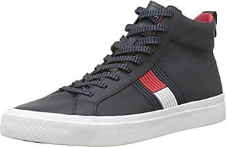 bce709298799d Tommy Hilfiger Flag Detail High Leather Sneaker