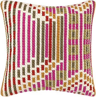 Trina Turk Residential Madera Bargello Pillow, 20 by 20-Inch, Persimmon