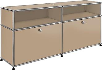 USM Sideboard mit 2 Klapptüren + 2 Fächer - USM beige/102x37x56,5cm