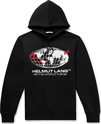 Helmut Lang Logo-print Loopback Cotton-jersey Sweatshirt - Black