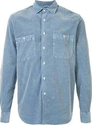 Aspesi longsleeved corduroy cotton shirt - Azul