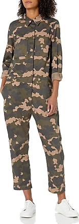French Connection Womens Boiler Jumpsuit, Camo, XS