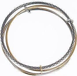 Bottega Veneta Silver Braided Bracelet size M