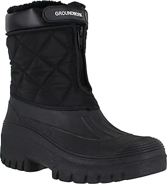 Groundwork GroundWork LS83 Womens Muckers Mukker Stable Winter Waterproof Lined Snow Boots UK7 Black